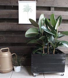DIY houten plantentrolley 9