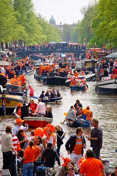 Kingsday 27 april .The Dutch celebrating the birthday of King Willem Alexander. There are many party's ,concerts and markets.