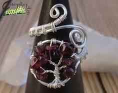 Image result for gemstone tree of life wire wrap ideas #wireringsideas