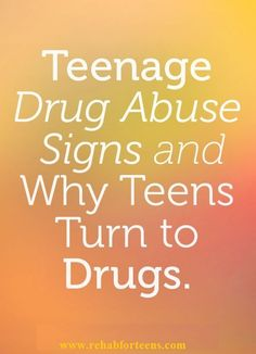 Many addicts start using drugs in their teens and facts about drug abuse in teenagers are of interest to agencies who wish to reduce teenage drug abuse. It is thought if the number of teen drug abusers can be reduced, then addiction overall will decline.