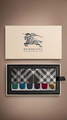 Burberry nail colour palette