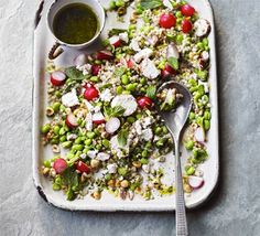 Broad bean, barley & mint salad: These little green beans go really well with grains like pearl barley - for a light touch, serve cold with goat's cheese, mint and hazelnuts