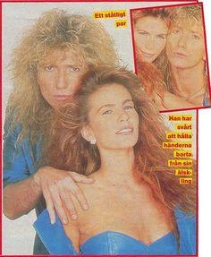 white snake and tawny kitaen...hair metal.