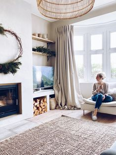 Renovation Diary: Our Living Room and Fireplace Revamp — Malmo & Moss 1930s Living Room, Scandi Living Room, Narrow Living Room, Living Room With Fireplace, New Living Room, Living Room Modern, Interior Design Living Room, Living Room Designs, Living Room Decor