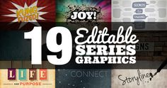Hey friends! I need to interrupt this Awesome Office series real quick because... we have new treats for you in the Stuff You Can Use shop!  A BUNDLE OF 19 EDITABLE SERIES GRAPHICS!  Each of th...
