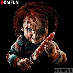 Every kit gives you a chance to create a work of art you can be proud of. This diamond painting kit Horror Movie Characters, Horror Movies, Chucky Movies, Horror Artwork, Horror Pictures, Childs Play Chucky, Horror Icons, Arte Horror, Movie Poster Art