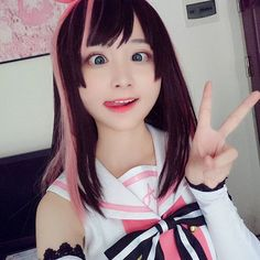Kizuna AI cosplay  She is beautiful and has a very hilarious face lol