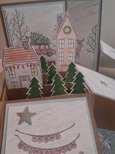 die kleine Kartenwerkstatt: weiße Weihnacht - Card in a Box