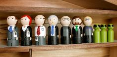 The XFiles Small Peg Set by WoodenLegNamedSmith on Etsy, $66.00 #XFiles #educatinggeeksfind