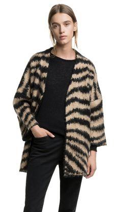 Camel jacquard jacket