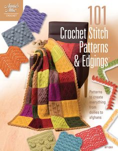 101 Crochet Stitch Patterns and Edgings is a helpful instructional book featuring 81 different stitch patterns and 20 crochet edging patterns. Add this book to your crochet collection today and learn new techniques to create one-of-a-kind doilies, afghans, and more