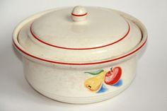 Harker pottery Hotoven casserole dish, circa 1940s.