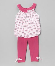 Look what I found on #zulily! Bright Fuchsia Top & Leggings - Infant & Toddler by Dreamstar #zulilyfinds