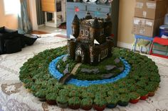 Scottish castle with a cupcake moat