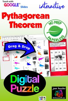 Your students solve 16 problems as they piece together an ancient picture of Pythagoras.  Better than a worksheet and NO prep and Paperless for you. #digitalalgebra