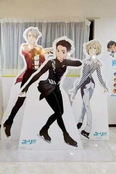 Yuri!!! on ICE Anime Collaboration Themed Cafe | MANGA.TOKYO Photo Report | Yuri on Ice Character Cutouts