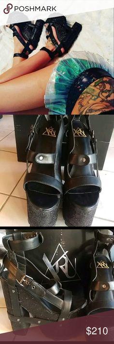 🎉 PRICE DROP ❤ YRU Nitecall platforms YRU Nitecall platforms. Worn twice, box included. Price firm YRU Shoes Platforms