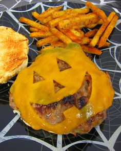 Jack-O-Lantern Cheeseburgers | Plain Chicken
