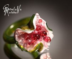 """Купить Кольцо """"Цветочная роса"""" - Марина Берулава, авторский лэмпворк, лэмпворк, кольцо, кольцо лэмпворк"""