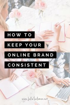 How to Keep Your Online Brand Consistent // Julie Solomon -- Social Media Apps, Social Media Branding, Branding Your Business, Creative Business, Business Tips, Corporate Branding, Logo Branding, Branding Website, Business Coaching
