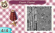 "ariannimalcrossing: ""my first attempt at making a qr code, so I decided to make a flannel check out my blog! """