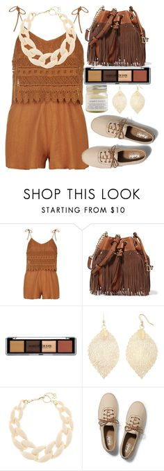 """Chocolate girl"" by erohina-d ❤ liked on Polyvore featuring Topshop, Diane Von Furstenberg, Boutique+, DIANA BROUSSARD, Keds and Brooklyn Candle Studio"