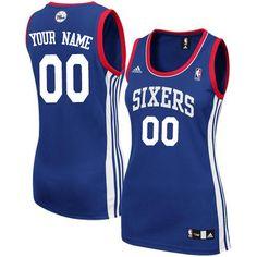4f91e94f7 Customized Quality Fabrics Women Alternate NBA Royal Blue Adidas Swingman  Philadelphia 76ers Jerseys
