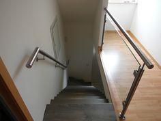 #Balustrade met glas en RVS #trapleuning met verstek. Meer info? --> www.lumigrip.nl