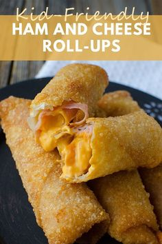 Cajun Delicacies Is A Lot More Than Just Yet Another Food These Kid-Friendly Ham And Cheese Roll Ups Are Crunchy, Cheesy And Very Delicious Easy To Double The Recipe - Perfect For Lunch, Snacks and Potlucks Lunch Snacks, Yummy Snacks, Yummy Food, Kid Lunches, School Lunches, Fun Food, Lunch Box, Easy Kid Friendly Dinners, Easy Meals