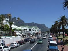 Clifton Beach Road in Cape Town, South Africa