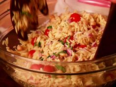 Giada's Orzo Salad Recipe : Food Network - FoodNetwork.com (Try this orzo with dried cherries.)