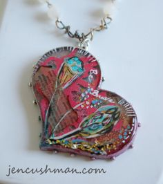 Necklace made for Seth Apter's book The Mixed Media Artist where I was one of the featured artists. Ice Resin, Diy Jewelry, Jewelry Ideas, Mixed Media Artists, Coin Purse, Things To Come, Wallet, Creative, Knot