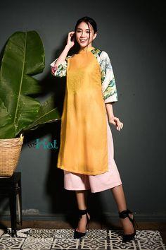 Những thiết kế áo dài cách tân giá dưới 1.5 triệu đồng đẹp lung linh cho nàng diện Tết - Ảnh 10.