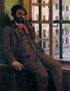 The story of the French Béret. Read more on www.lapoulequiroule.com  Gustave Courbet self-portrait at Sainte-Pélagie c. 1872