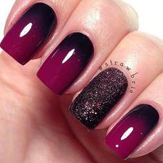 Amazing dip dye nail effect