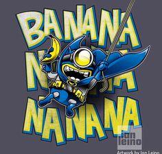 Ba Na Na Na Na Na Na BatMinion!!! Batman Minions by Ian Leino via TeeFury