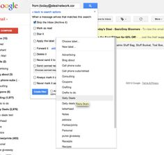 How to filter emails so it doesn't clog up your inbox (scroll down a little to see the instructions).