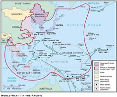 World War II Pacific   Japanese Extended Control In The Pacific