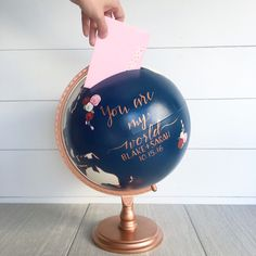 Card Box Globe can be used for wedding cards, monetary gifts, well wishes, date night ideas, flatter box for birthdays and retirement, etc. Includes a door in the back to retrieve envelopes so your globe can remain a keepsake forever!