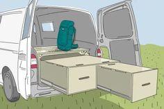 marinus wharncliff erwin grenoside bett as titel Volkswagen Transporter, Vw T5, Volkswagen Caddy, Bus Camper, T4 Bus, Suv Camping, Camper Van Conversion Diy, Vans Style, Campervan