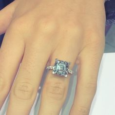 6 carat asscher cut diamond..!! If am ever rich enough I want this for my engagement ring.