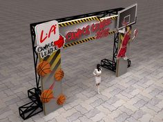 Entrance gate event design (outdoor with rigging) l.a campus league. Entrance Design, Entrance Gates, Gate Design, Display Design, Booth Design, Backdrop Design, Event Branding, Exhibition Stand Design, Shop Front Design