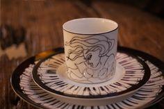 """""""Piano'  fine #dinning #tableware #piano #porcelain #coffeecup #black&white #platinum #details #artist #kunst #porcelæn #kaffe #sortoghvid #elizabethromhild #hjem #bolig #living #lifestyle"""