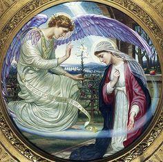 ~J   GABRIEL the angel sent to Mary....The Annunciation, Edward A. Fellowes Prynne