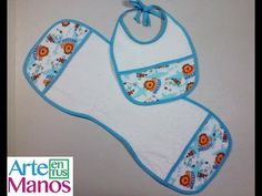 Baby bib and baby gasses, step-by-step baby accessories Baby Bibs Patterns, Sewing Patterns, Bandana Blanket, Baby Sewing Projects, Sewing Crafts, Baby Shower Tags, Bib Pattern, Bebe Baby, Embroidery Works