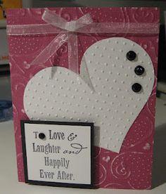 Scrap Rx Heart embossed wedding card