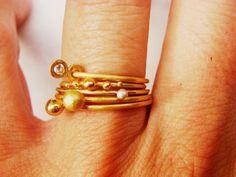 stacked rings, Katja Gold dawanda