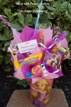 Tangled Kids Candy Party Favors Made to Order
