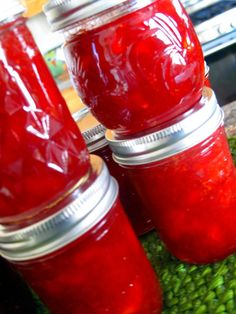 Fun recipe for strawberry nectarine jam without store bought pectin, but I'd cut back the sugar a tad.