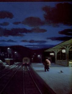 Station, Illuatrators, One Card Selling Michael Sowa, Wilhelm Busch, The Beautiful South, Postcard Art, Great Paintings, Weird Art, Nocturne, Funny Art, Oldenburg